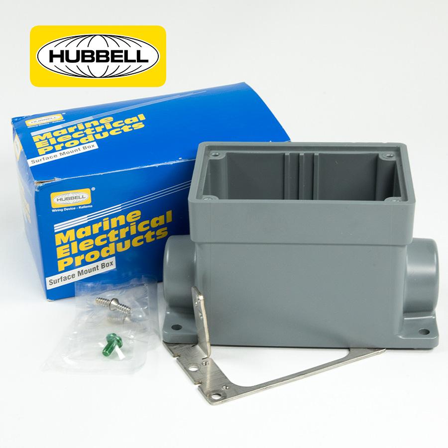 Hubbell Weatherproof Receptacle Box Hooker Electric Reels