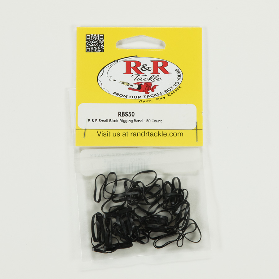 1542 Small Black Rigging Bands 50ct