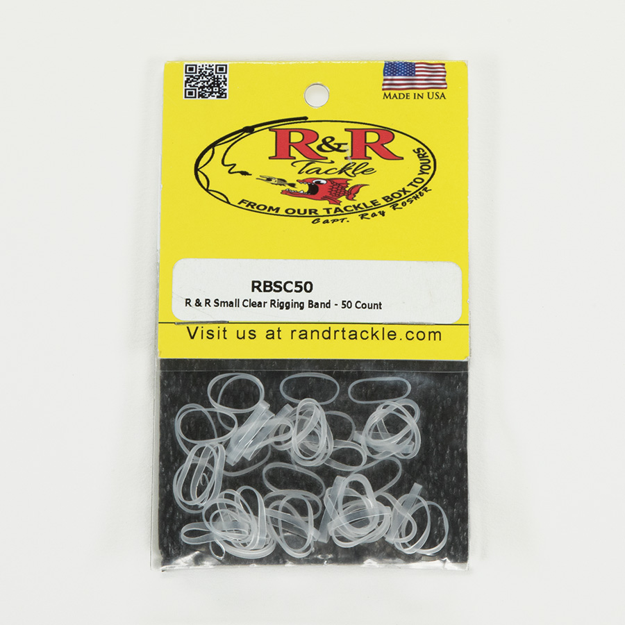 1544 Small Clear Rigging Bands 50ct
