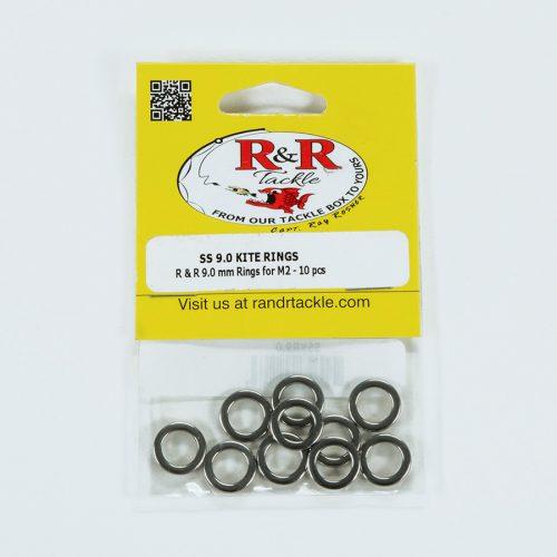 1551 9mm Stainless Steel Kite Rings 10pc