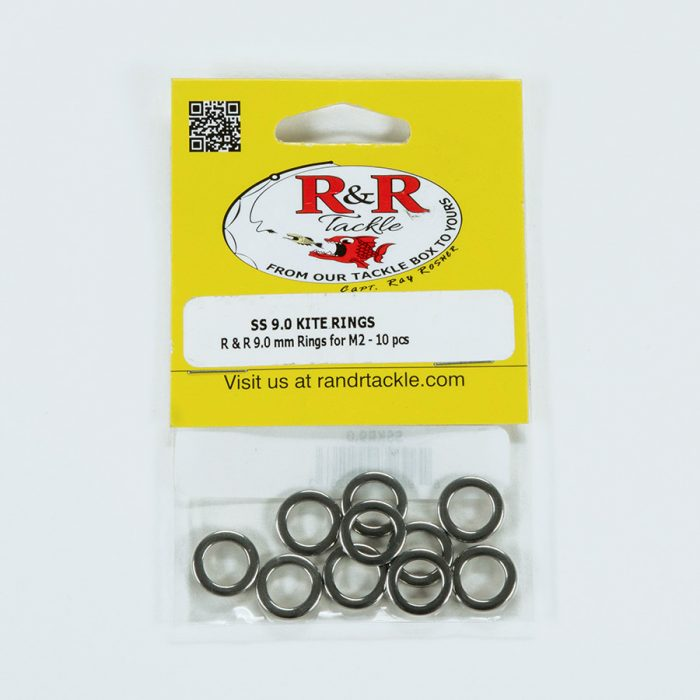 1551 9mm Stainless Steel Kite Rings 10pc