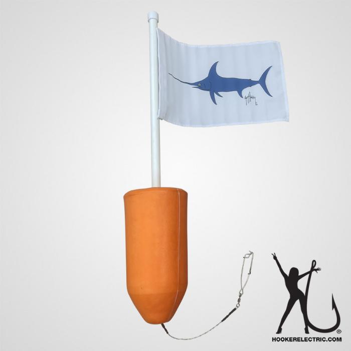 Buoy Rigged With Swordfish Flag