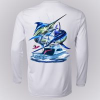 Dennis Friel Blue Marlin Long Sleeve Shirt Back