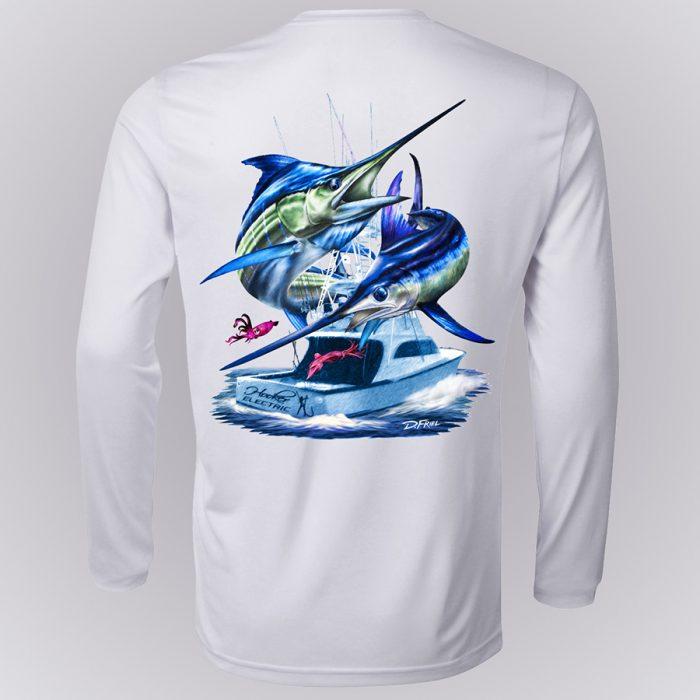 Dennis Friel Blue Marlin Long Sleeve Shirt Back