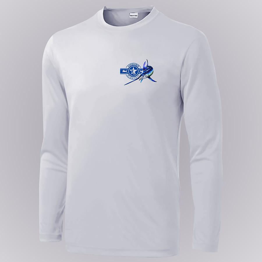 Dennis Friel Blue Marlin Long Sleeve Shirt Front