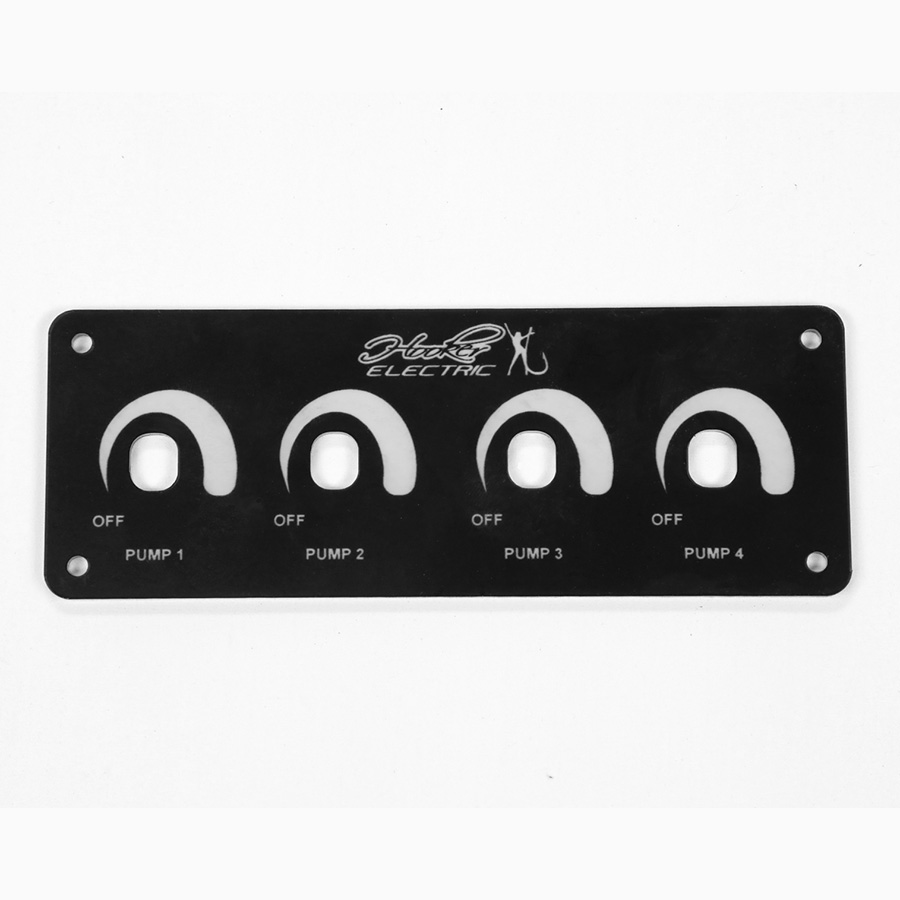 Hooker Electric Small Four Switch Pump Plate Black