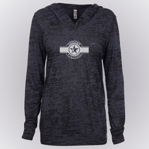 Ladies Jersey Burnout Hoody
