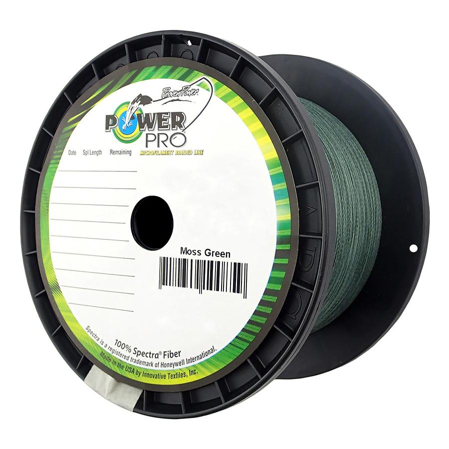 Power Pro Spectra Braid 1500 65lb Yards Moss Green