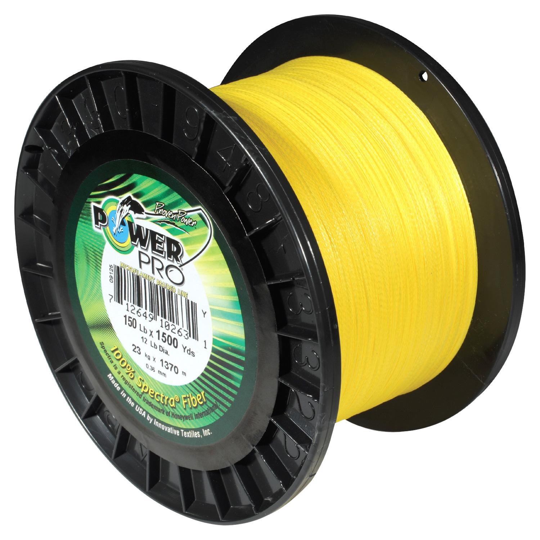 PowerPro 1500 Yard Spectra Fiber Line 150lb Hi Vis Yellow