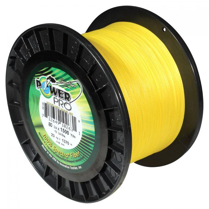 PowerPro 1500 Yard Spectra Fiber Line 80lb Hi Vis Yellow