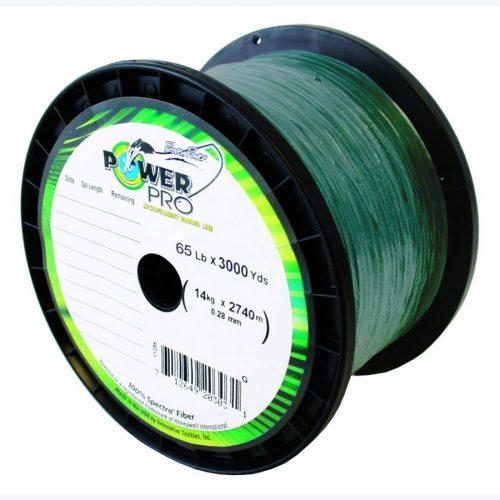PowerPro 3000 Yard Spectra Fiber Line 65lb Moss Green