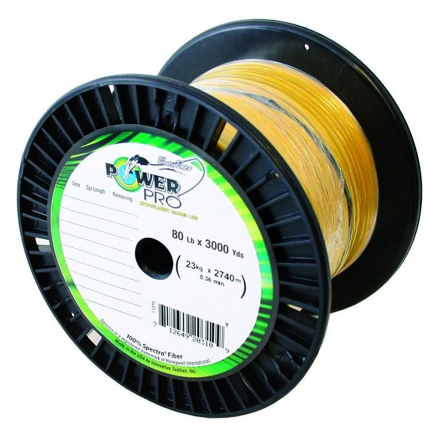 PowerPro 3000 Yard Spectra Fiber Line 80lb Hi Vis Yellow