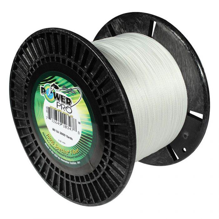 PowerPro 3000 Yard Spectra Fiber Line 80lb White