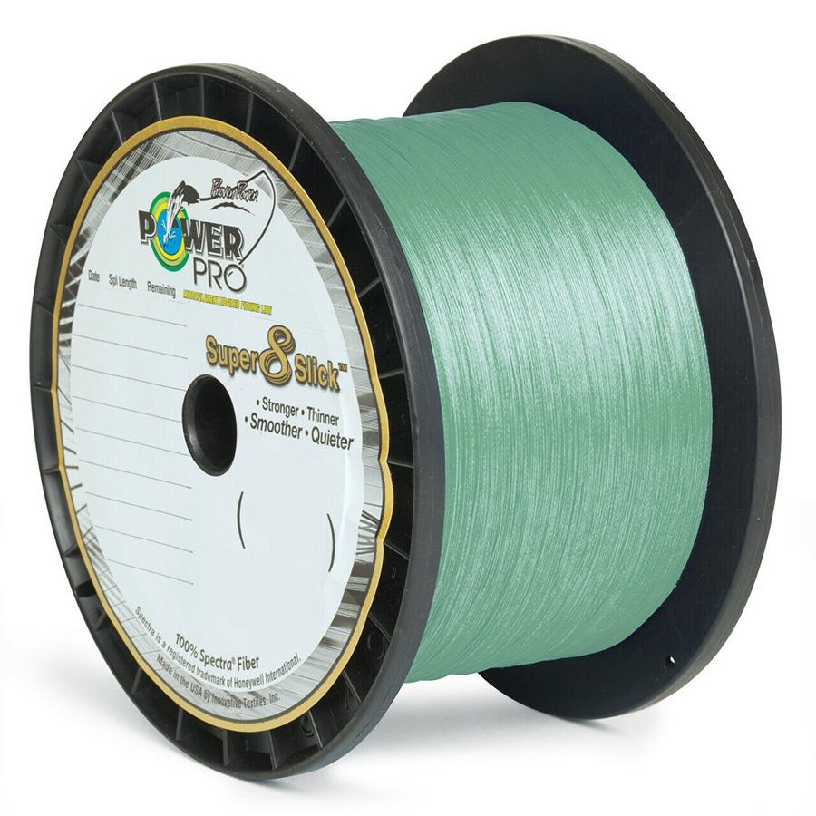 Powerpro Super 8 Slick 3000 Yard 65lb Aqua Green