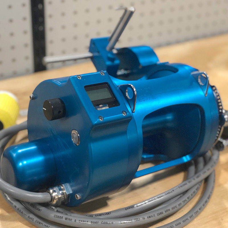 Sapphire Blue Anodizing Reel