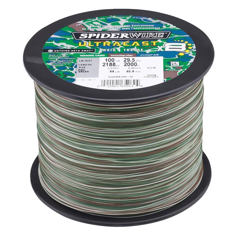 Spiderwire Ultracast 100lb 2188yd Inshore Camo Braid