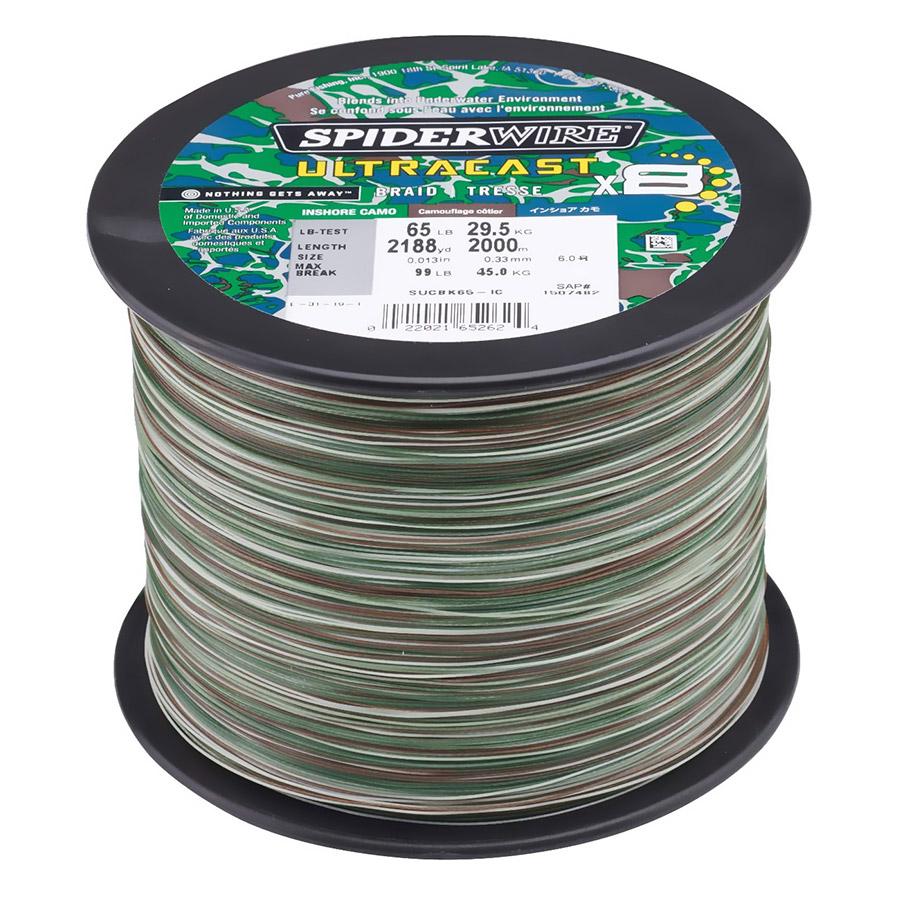 Spiderwire Ultracast 65lb 2188yd Inshore Camo Braid