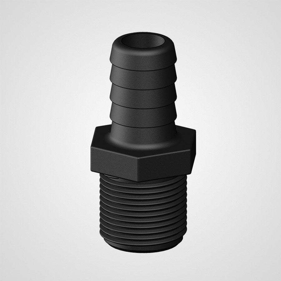 Tail Straight Threaded 19mm .75 90727
