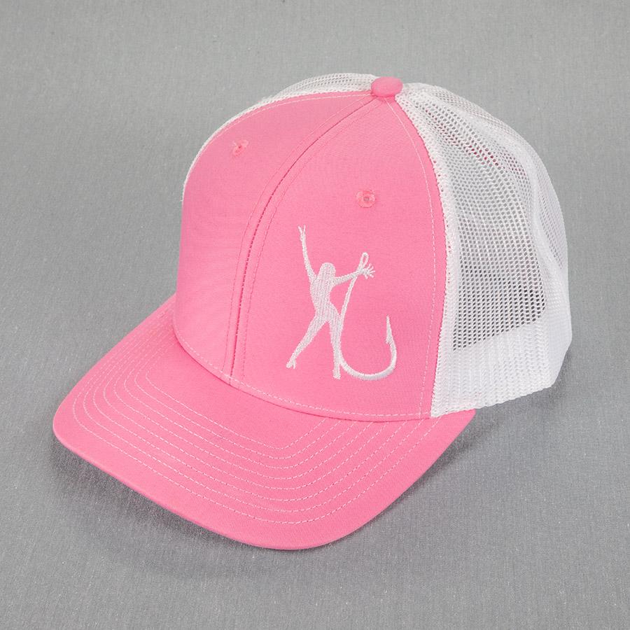Trucker Mesh Pink White Hat 2035