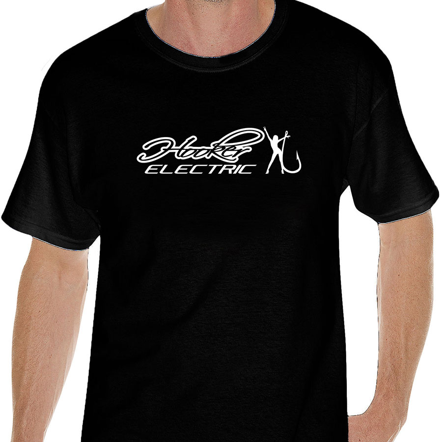 Hooker Electric Mens Black T Shirts Front