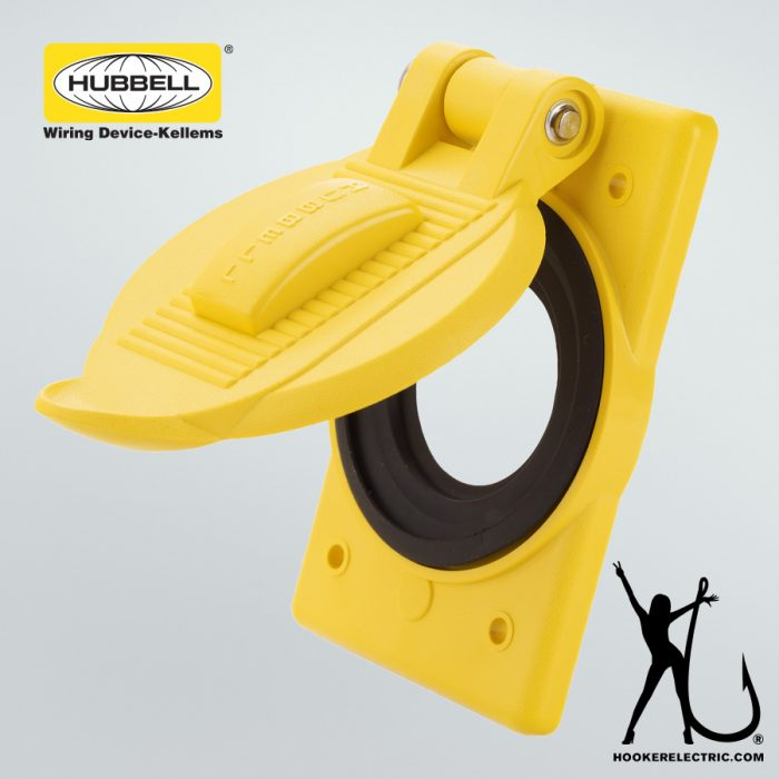 Hubbell Weatherproof 1-Gang Receptacle Cover Plate