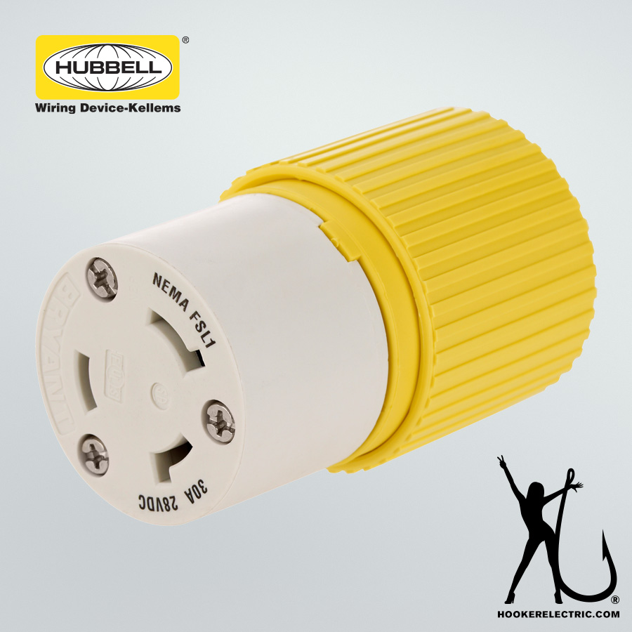 Hubbell 30A Female Plug