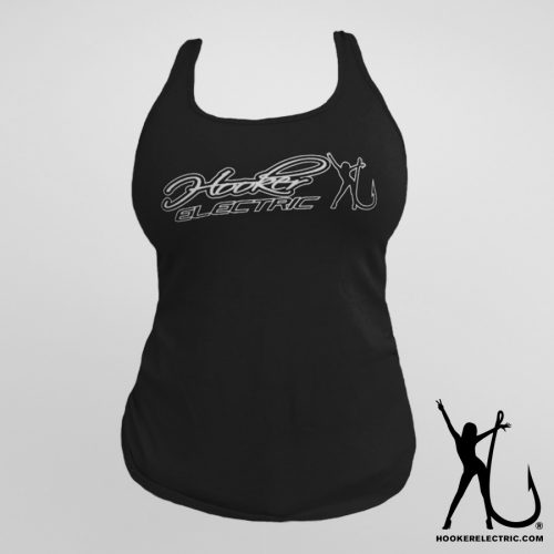Hooker Electric Black Tank Top
