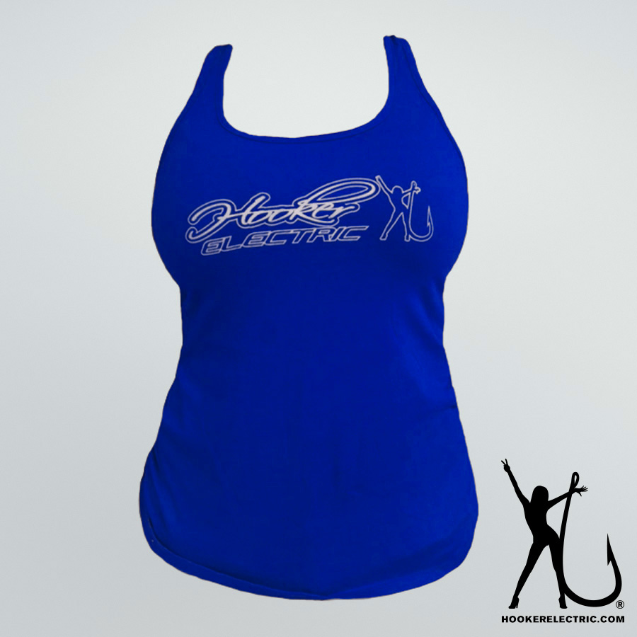 Hooker Electric Navy Blue Tank Top