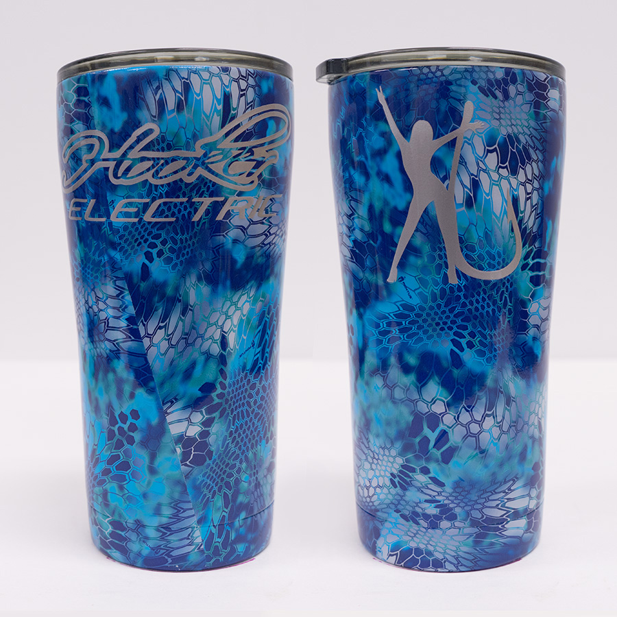 Ozark Trail 20 oz Blue Kryptec Tumbler