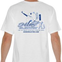 Hooker Electric Men's White T-Shirts Back