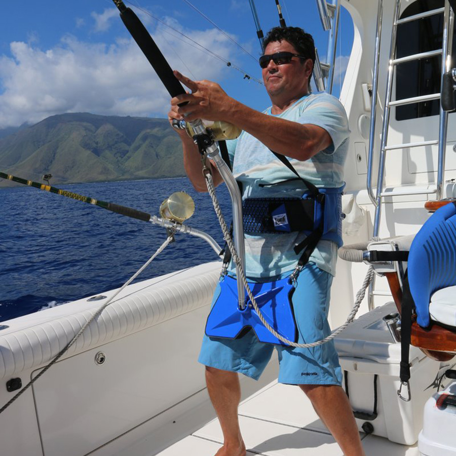 Seamount Stand Up Fishing Harness Use