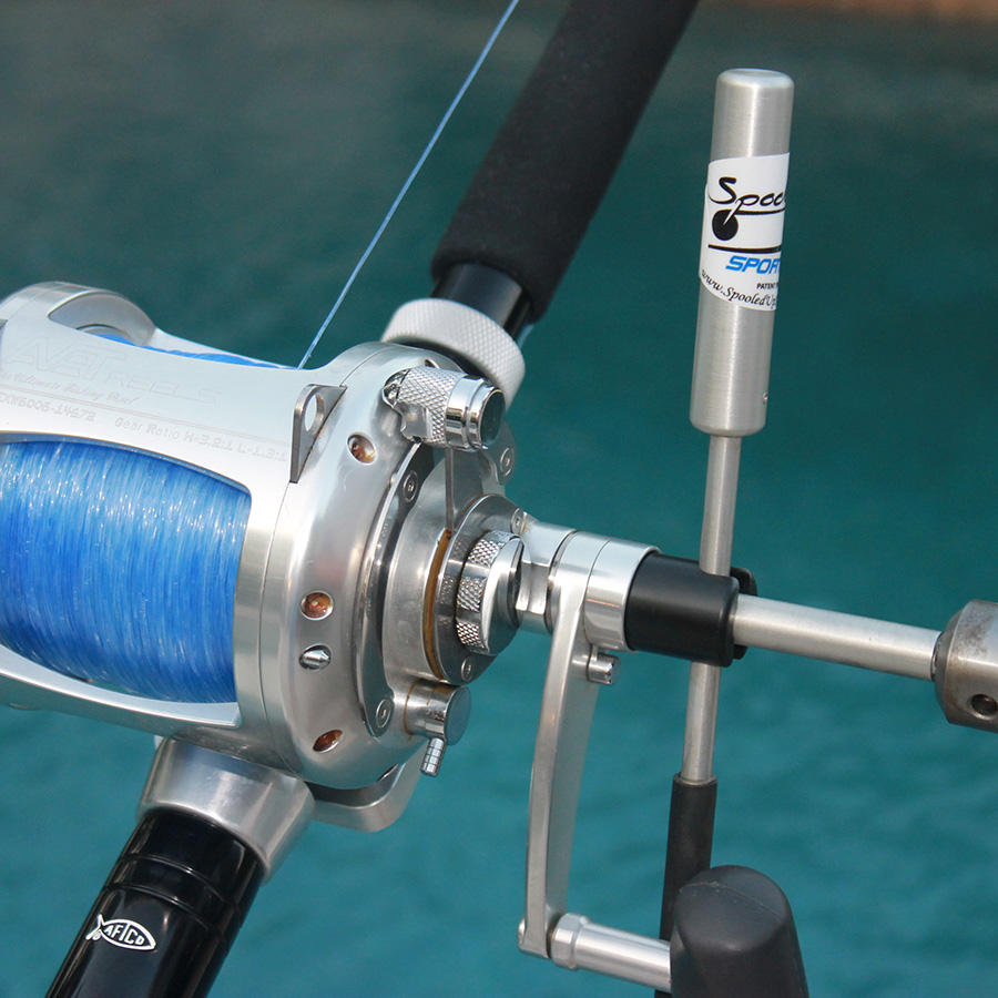 Spooled-Up Spooler with Speedy Crank - Hooker Electric Reels